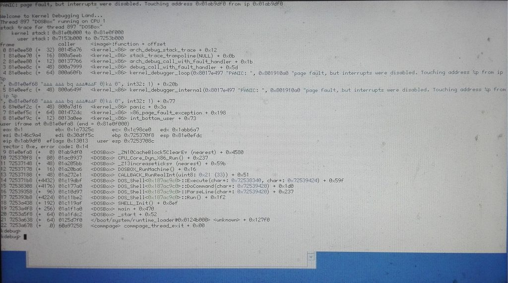 Kernel Panic su Haiku R1/Beta2